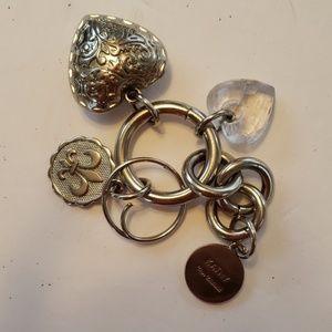 Kathy Van Zeeland Silver  Key Chain